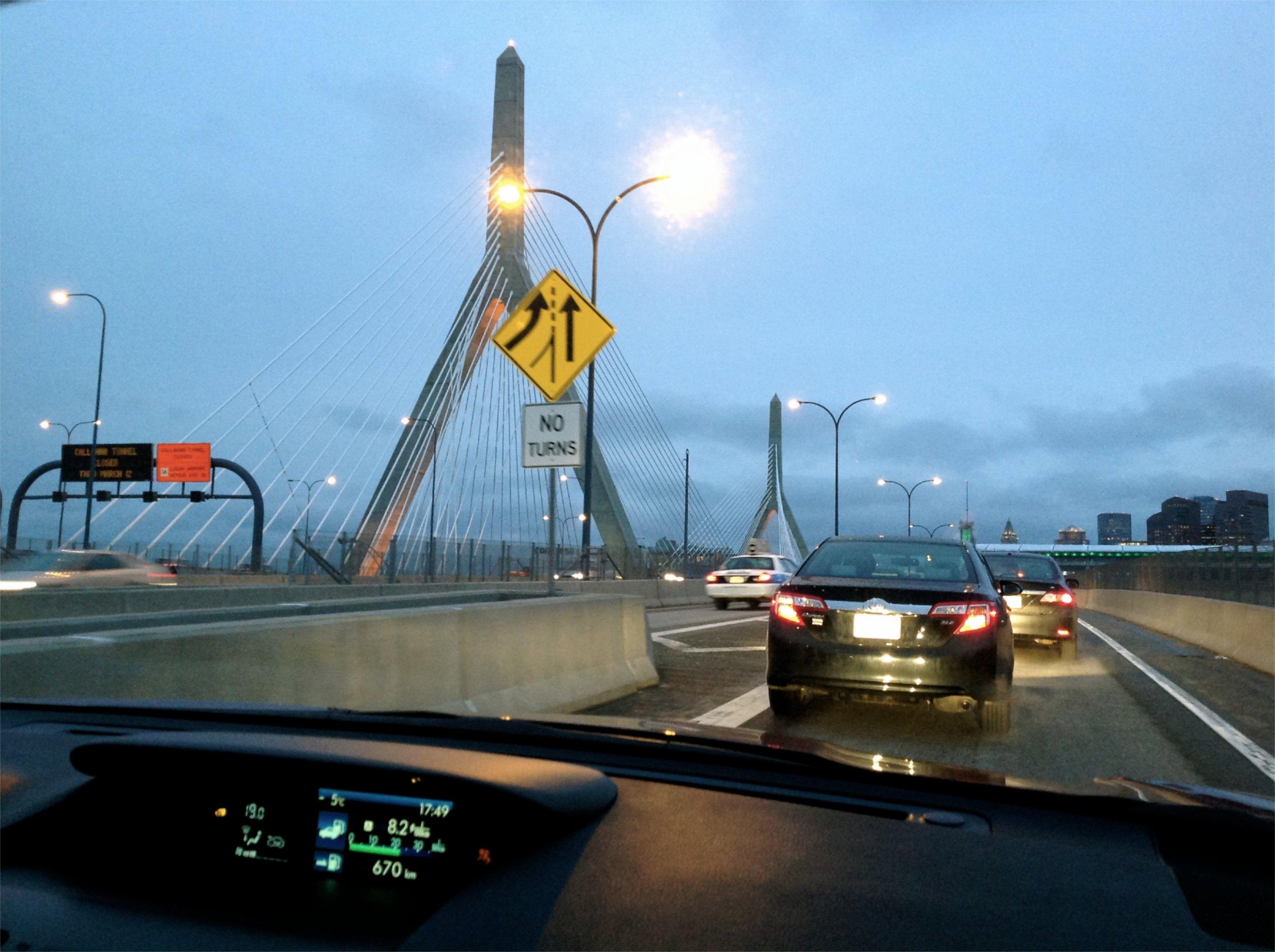 Boston à l'arrivée