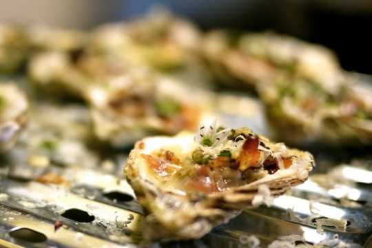 Huîtres à la pancetta