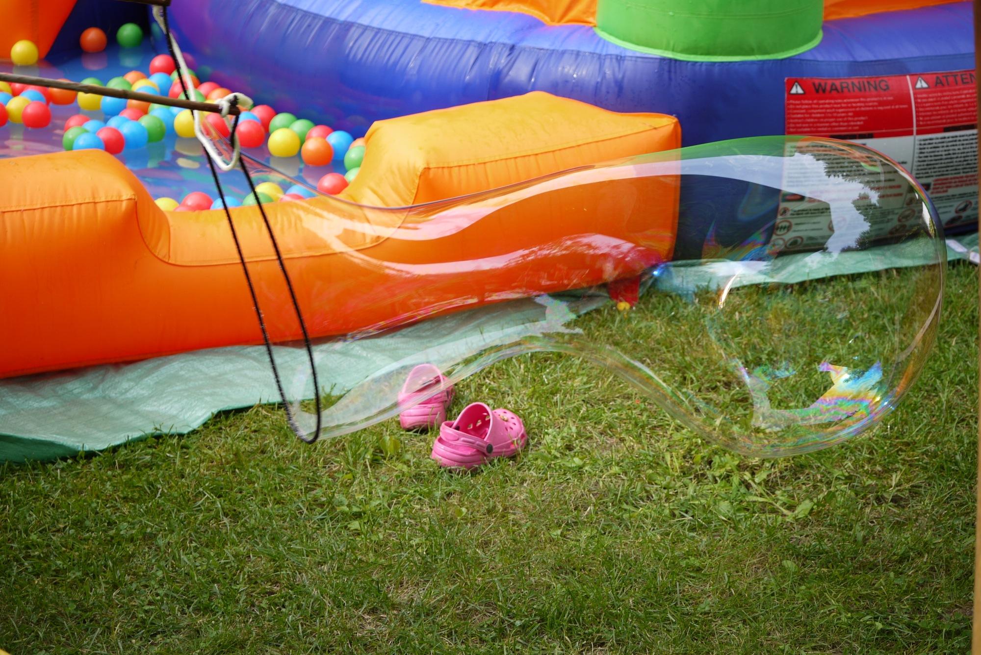 Les bulles géantes: un classique chez nous!