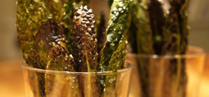 Chips de chou palmier au sel fumé