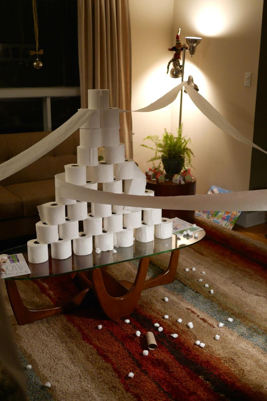 Les rouleau de papier de toilette: plein de potentiel pour les lutins!
