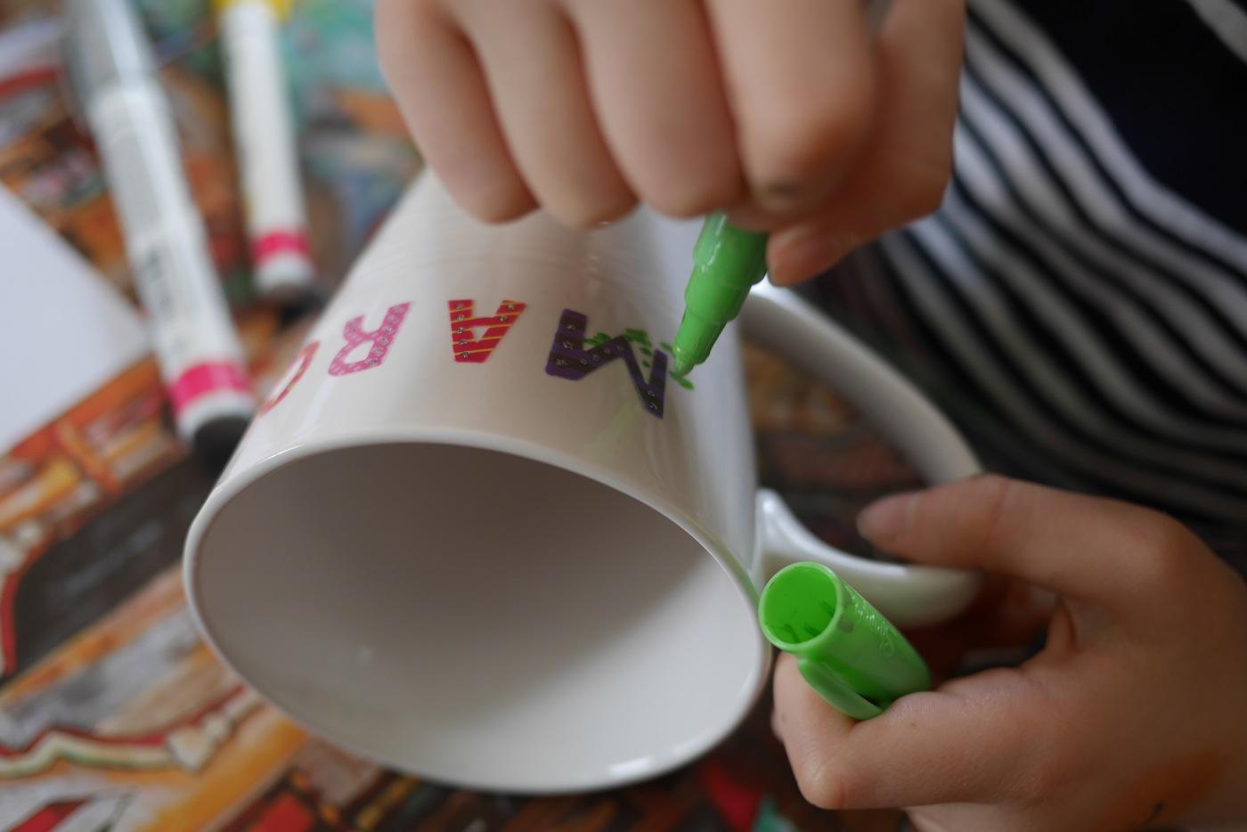 Tasse décorée