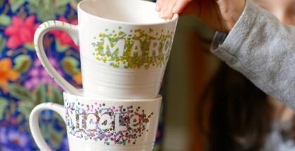 Tasses décorées
