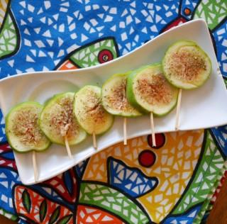 Figues fraîches à la poudre de thé des bois