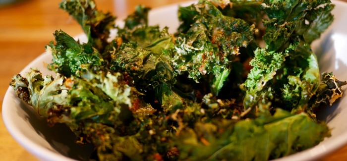 Chips de kale au parmesan