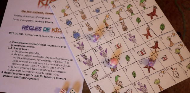 Projet brico: un jeu de société inventé de toutes pièces