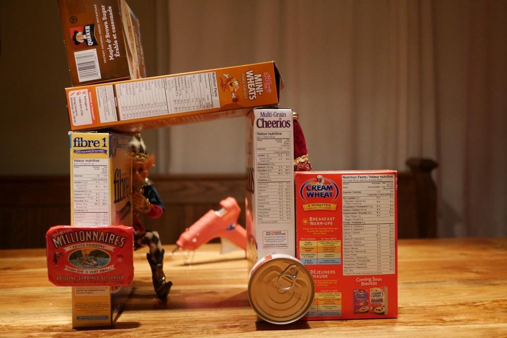 Boîtes de céréales et lutins
