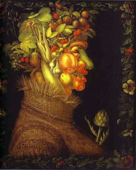 Chefs-d'oeuvre végétaux, à la manière d'Arcimboldo