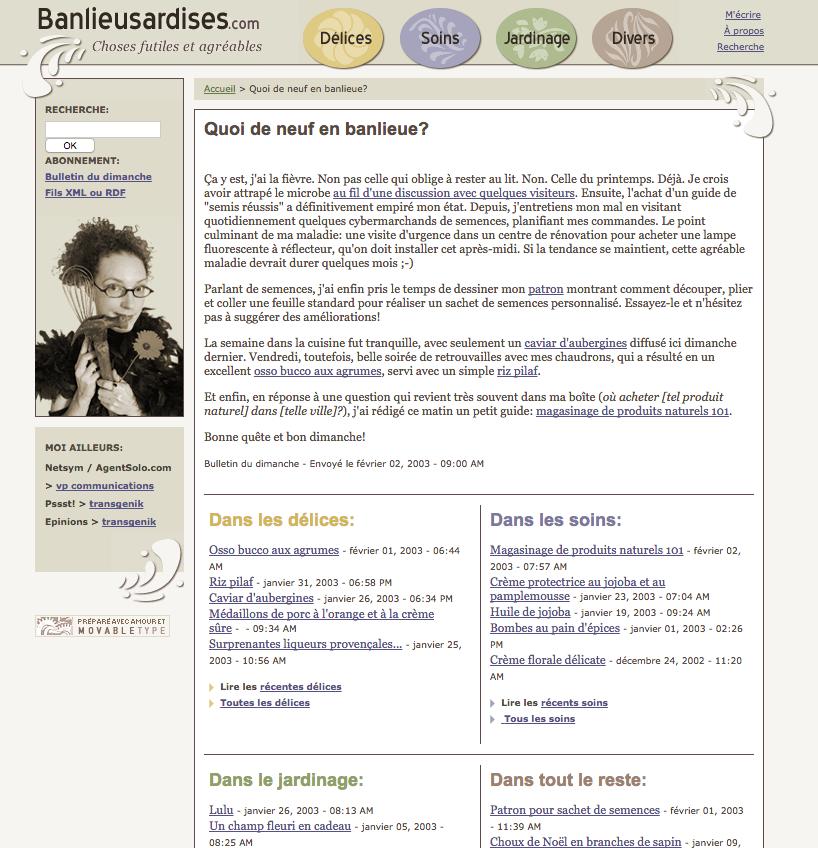 Les Banlieusardises en 2003.