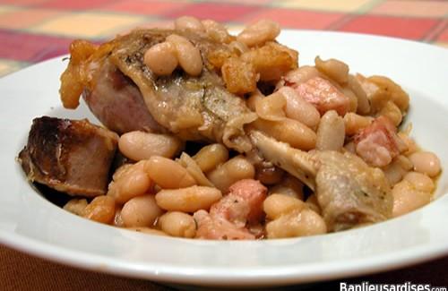 Cassoulet, confit, graisse et bouillon de canard