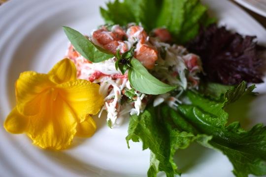 Ceviche de crabe et de saumon aux herbes aromatiques exotiques