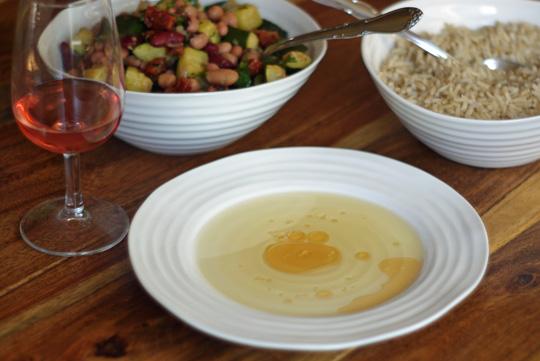 Salade de légumineuses aux courgettes