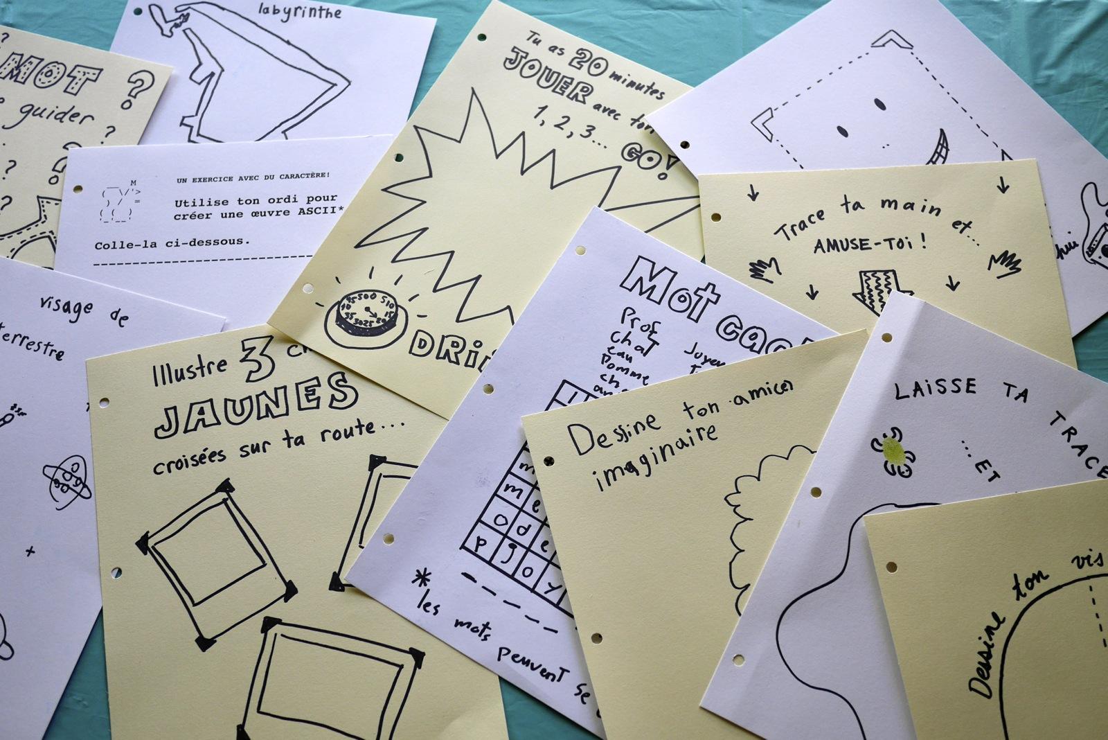 Un cadeau qu'on a adoré préparer: un cahier à colorier pour un tout-petit, et un journal créatif pour un professeur...