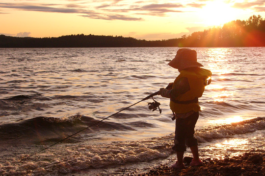 La pêche au poisson volant