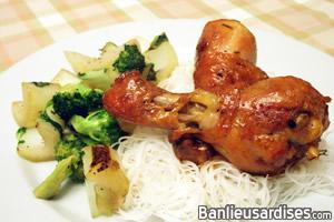 Pilons de poulet en sauce l 39 rable banlieusardises - Pilon de poulet a la poele ...