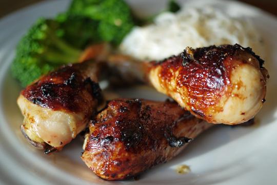 Pilons de poulet nuoc mâm et miel