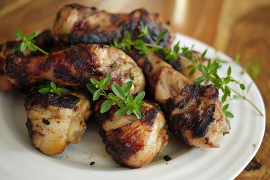 Pilons de poulet grillés à la portugaise