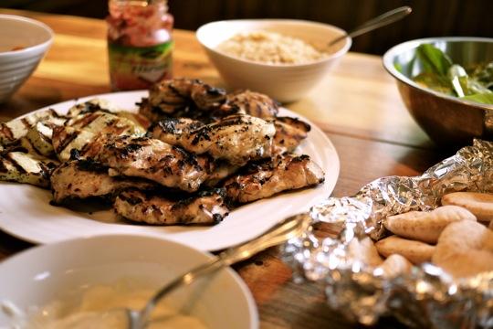 Poulet shish taouk sur le barbecue