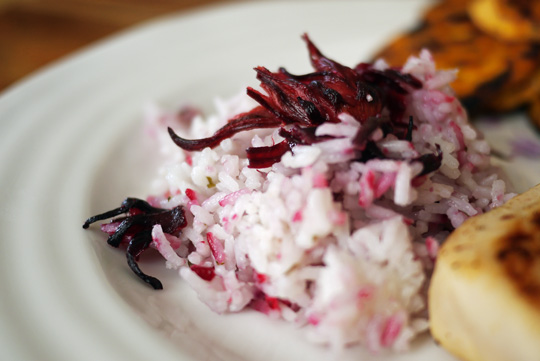 Steak de marlin bleu aux fleurs de ciboulette