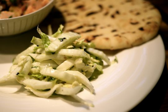 Salade de chou nappa et shiso