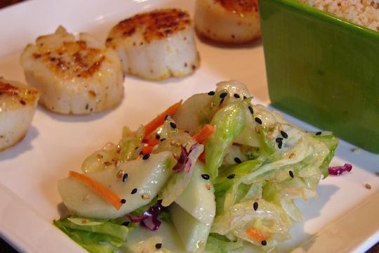 Salade jardinière à la pomme (et sa vinaigrette à la figue)