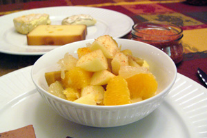 Salade de fruits au sel rose d'Hawaï