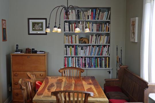 Une biblioth que encastr e dans ma salle manger banlieusardises - Construire une bibliotheque ...