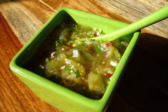 Salsa verde vite faite
