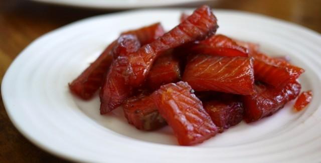 Bouchées de truite confite (ou saumon confit)