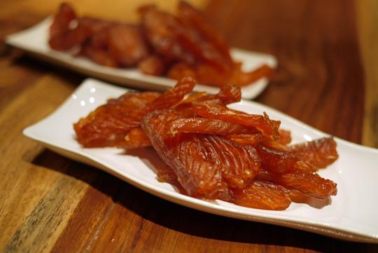Truite confite contre saumon confit
