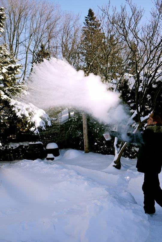 Expérience: lancer de l'eau bouillante par temps très froid